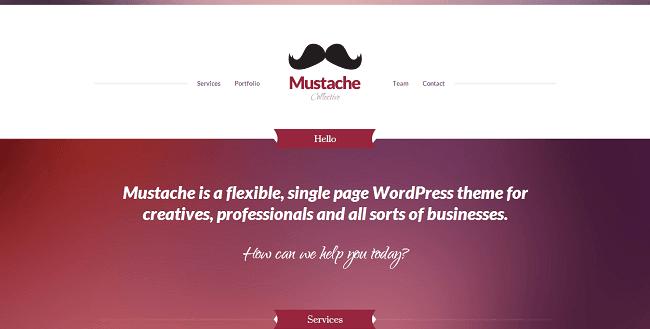 Mustache - Thème WordPress pour Créatifs et Business