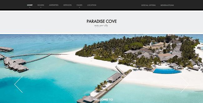 Paradise Cove est un thème WordPress pour Hôtel