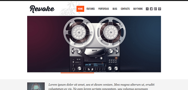 Revoke - Thème WordPress Portfolio