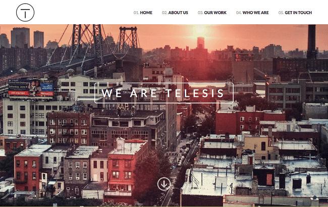 Telesis est un thème wordpress one page pour entreprises et entrepreneurs