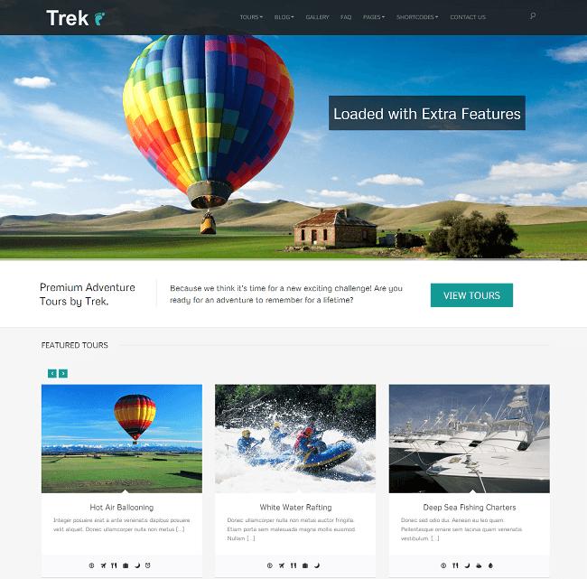 Trek - theme WordPress pour Voyage