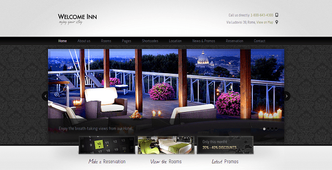 Welcome Inn - theme wordpress hotel