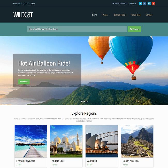 Wildcat est un theme WordPres de Voyage