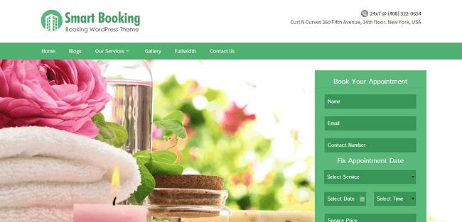 SmartBooking : Template WordPress Responsive Pour Réservation en Ligne