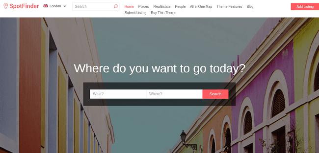 SpotFinder : template wordpress responsive inspiré par AirBnB