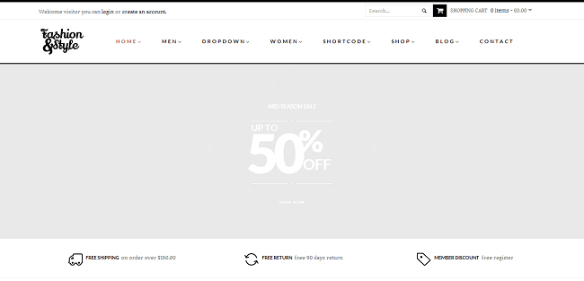 Fashion - Theme WordPress eCommerce