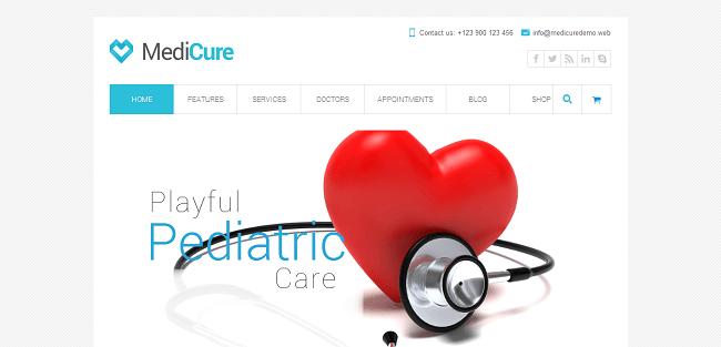 Medicure - Thème WordPress Médical