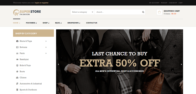 SuperStore - Template WordPress Responsive WooCommerce