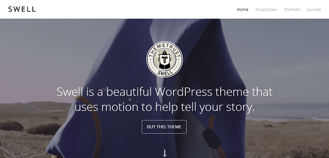 Swell : Theme WordPress Portfolio avec Video Background