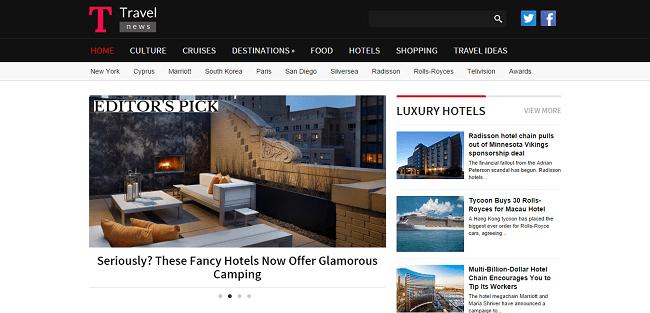 TravelNews : Theme WordPress Magazine de Voyage