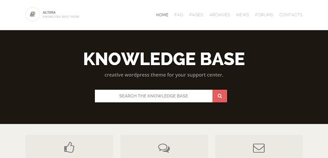 Altera : Theme WordPress Base de Connaissances