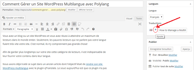 Article WordPress en Français