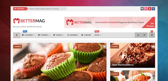 BetterMag : Thème WordPress Magazine et Review