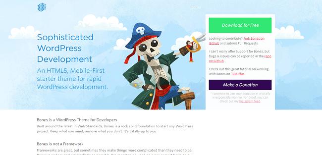 Bones : Starter Theme WordPress