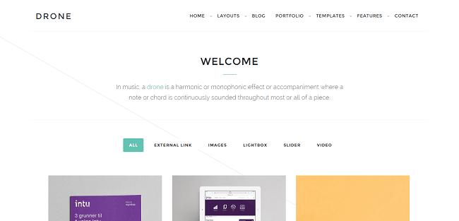 Drone : Theme WordPress Portfolio