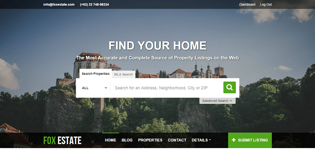 FoxEstate : Theme WordPress Immobilier
