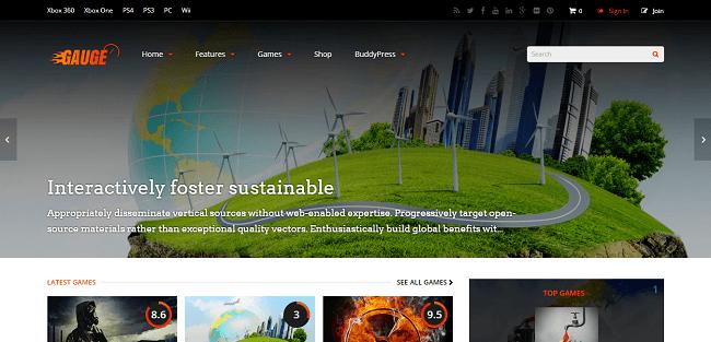 Gauge : Theme WordPress Blog & Magazine de Reviews
