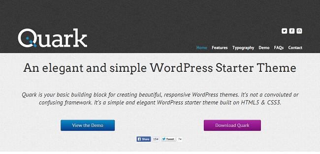 Quark : Starter thème WordPress