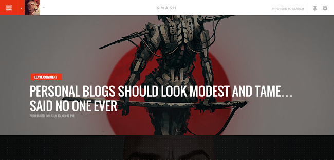 Smash : Theme WordPress pour Blog Personnel