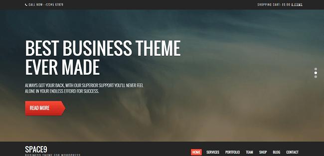 Space9 est un thème WordPress pour Entreprise