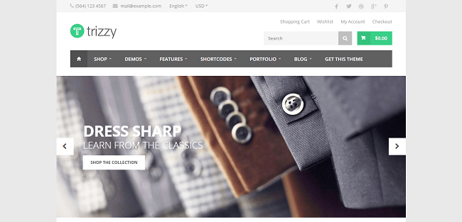 Trizzy : Theme WordPress WooCommerce