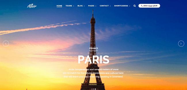 Altair : Theme WordPress Agence de Voyage