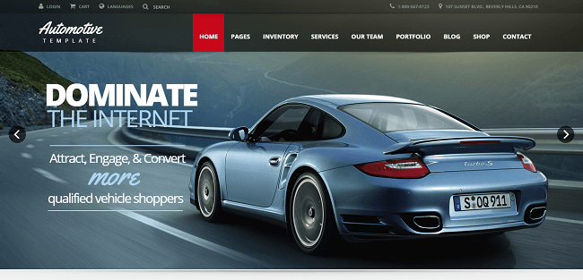 Automotive : Theme WordPress Concessionnaire Automobile