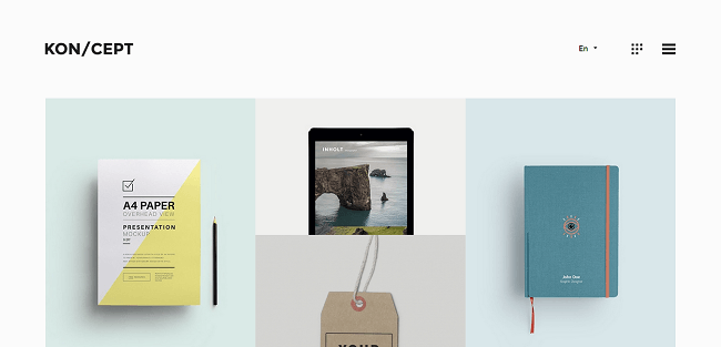 Kon/Cept : Theme WordPress Portfolio