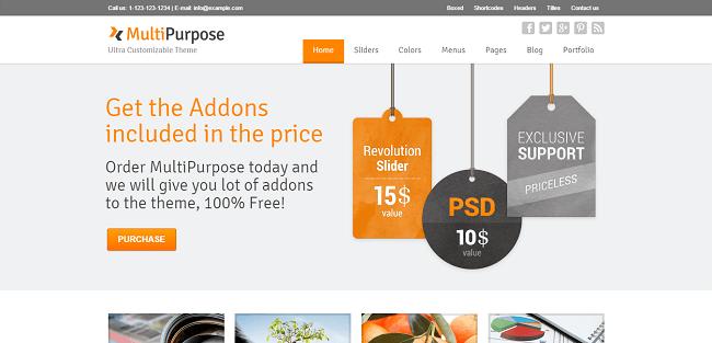 Multipurpose - Theme WordPress Moderne Multipurpose