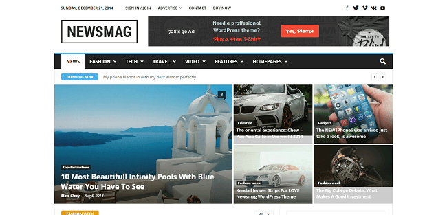 NewsMag : Theme WordPress Magazine