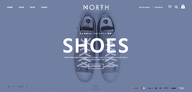 North : Theme WordPress eCommerce