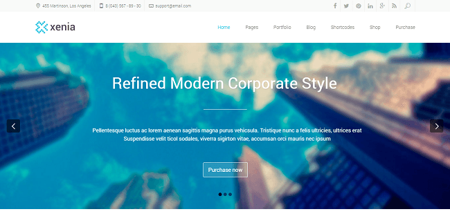 Xenia : Template WordPress Corporate pour Entreprises
