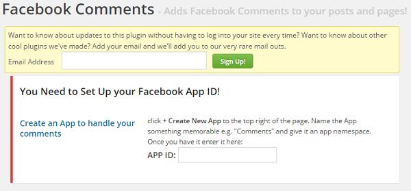Ajouter App ID dans le plugin Facebook Comments
