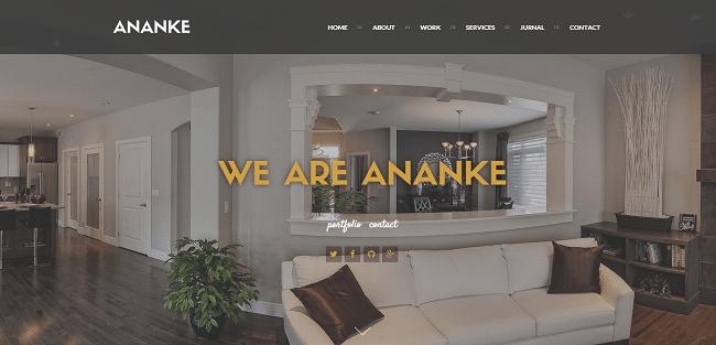 Ananke - Template WordPress One Page Parallax pour Agences et Créatifs
