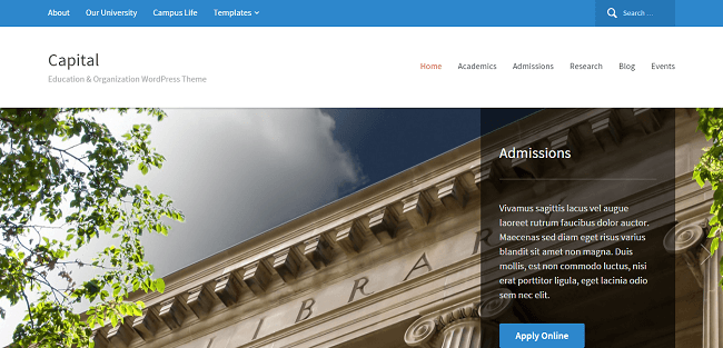 Capital : Theme WordPress pour Site d'Organisation ou d'Education