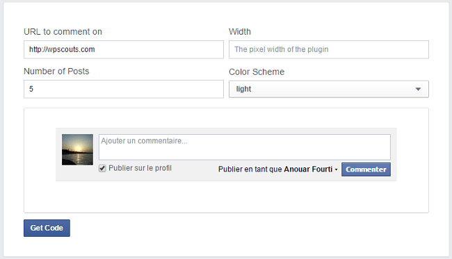 Comment Box Facebook