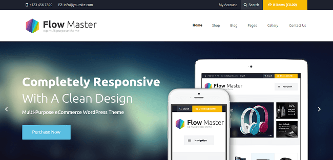 FlowMaster : Theme WordPress pour Ecommerce Electronique