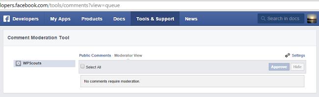 Outil de modération des commentaires Facebook