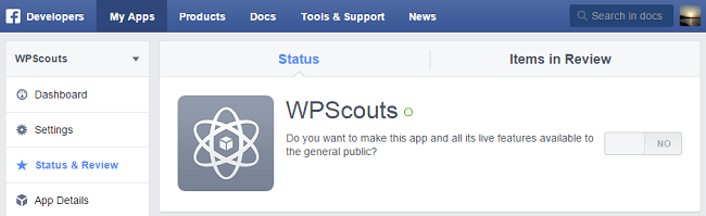 Rendre App publique