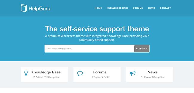 HelpGuru : Template WordPress Wiki pour base de connaissance