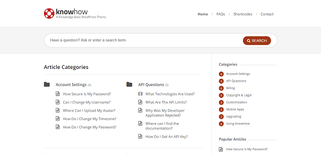 KnowHow : Theme WordPess Wiki Base de Connaissances