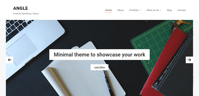 Angle est un thème wordpress portfolio