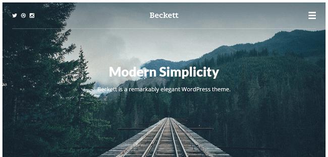 Beckett - Theme WordPress pour Agence et Site Portfolio