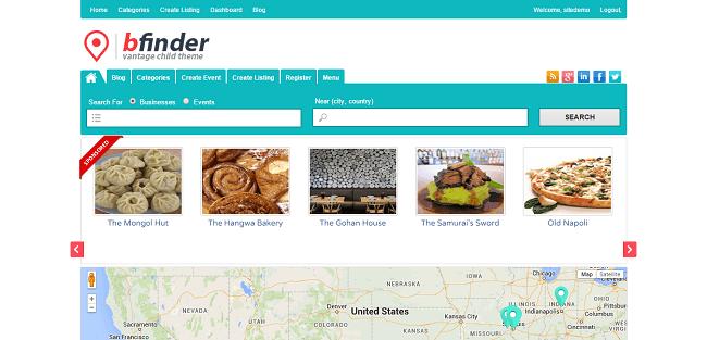 Bfinder - Theme WordPress Annuaire