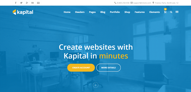 Kapital : Responsive WordPress Theme