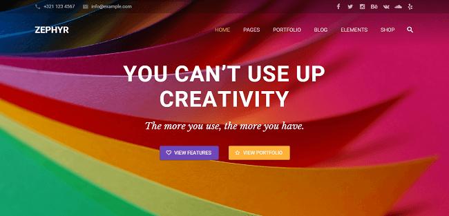 Zephyr : Material Design Theme