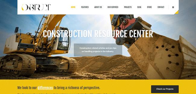 Konstruct : Theme pour Société de Bâtiment