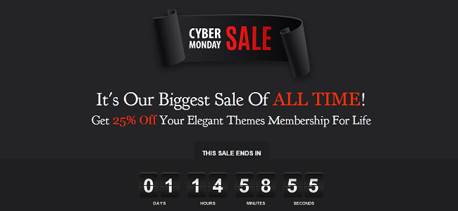 Elegant Themes Cyber Monday