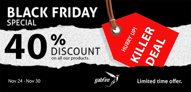 GabfireThemes : Offre Black Friday