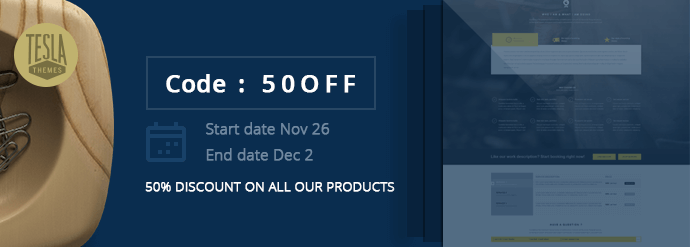 Teslathemes black friday discount